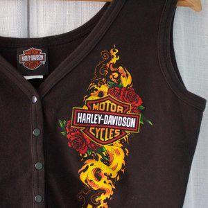 Harley Davidson Tank Top - Button down